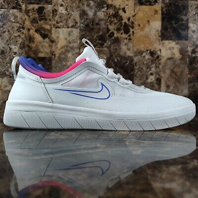 Nike SB Nyjah Free 2 Summit White Racer Pink Blast CU9220 100...