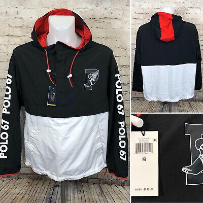 Polo Ralph Lauren P Wing 67 Stadium Jacket Black Red Men Size M, L