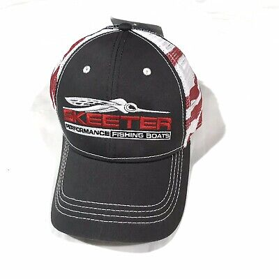 Skeeter Distressed Color Block Hat Red