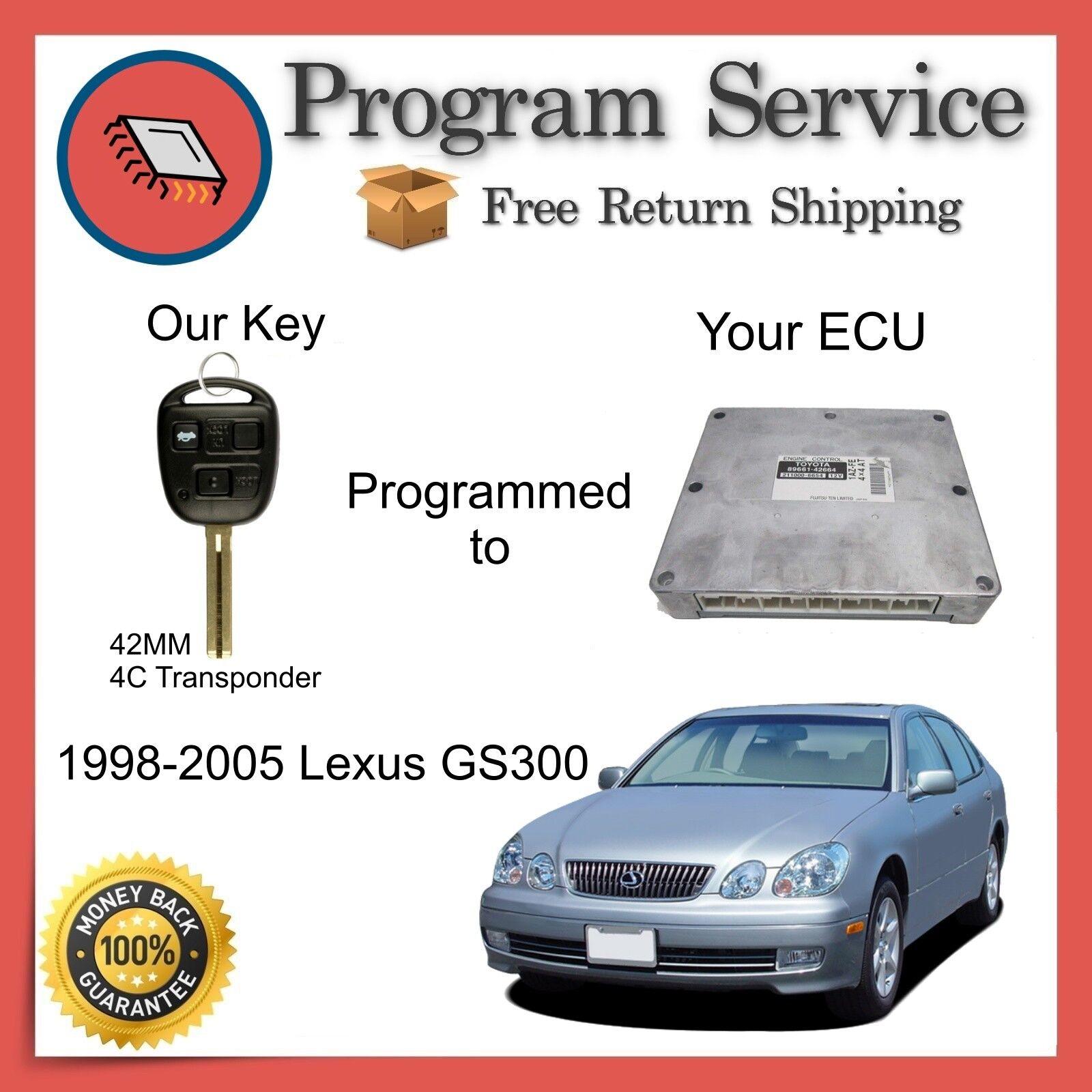 ✅ ECU KEY PROGRAM | Lexus GS300 1998 1999 2000 2001 2002 2003 2004 2005 98 99 00