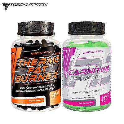 THERMO FAT BURNER 120 Caps & L-CARNITINE + GREEN TEA 90 Caps - Weight Loss Pills