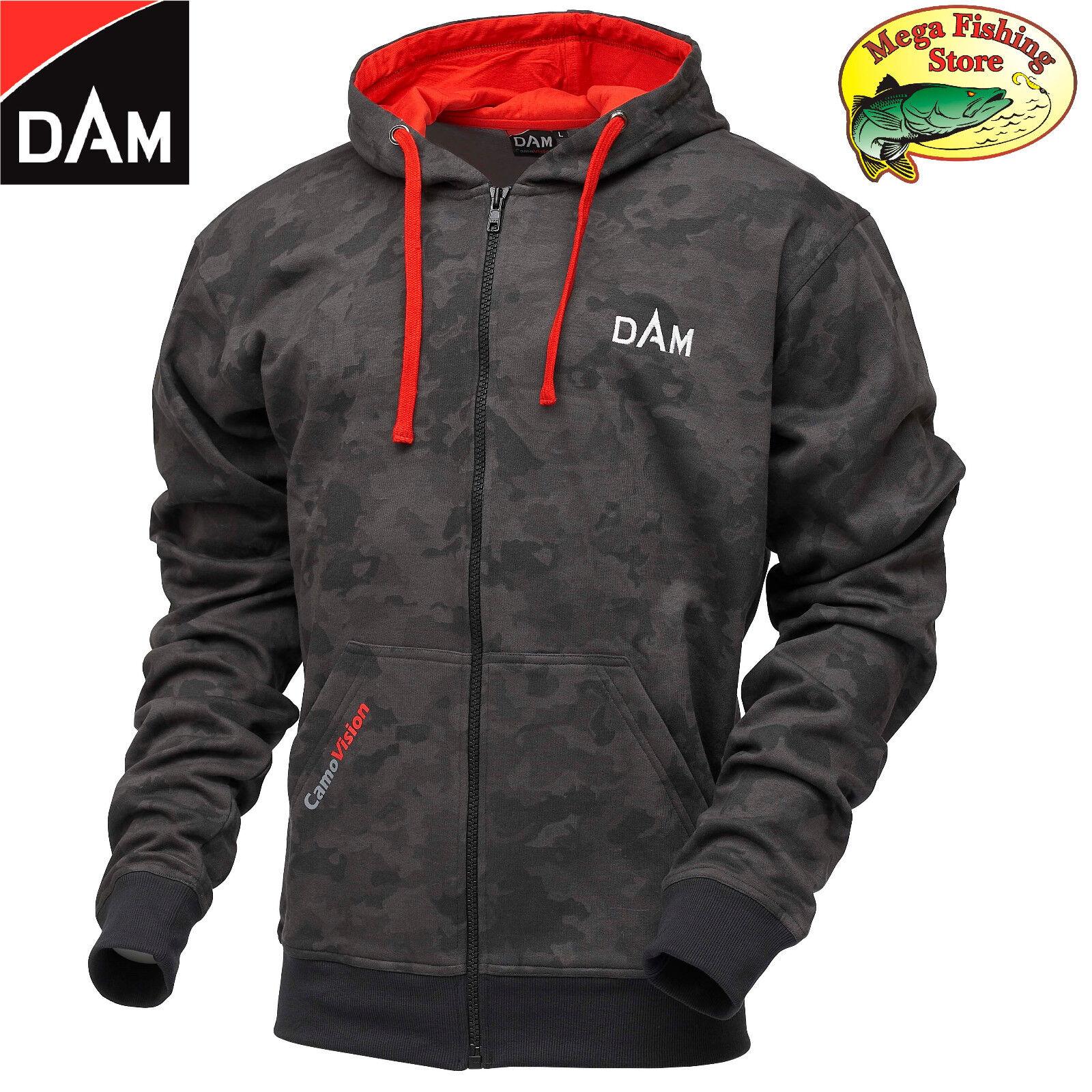 DAM Camovision Zip Hoody - Pullover Angel Jacke - Kapuzenpullover Hoodie M - XXL