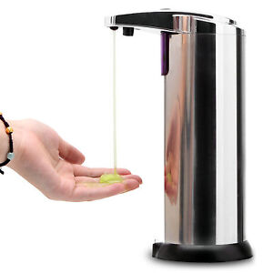 Automatic Stainless Steel Hands Free IR Sensor Soap Dispenser w/ Stand Best GIFT