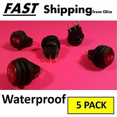 Side By Side Dash Panel Outdoor Waterproof Accessory Switch Spst 12v 20 Amp Max