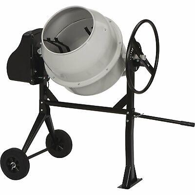 Klutch Portable Electric Cement Mixer - 4.25 Cu. Ft. Drum