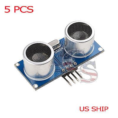 5x Ultrasonic Module Hc-sr04 Distance Transducer Sensor For Arduino Robot