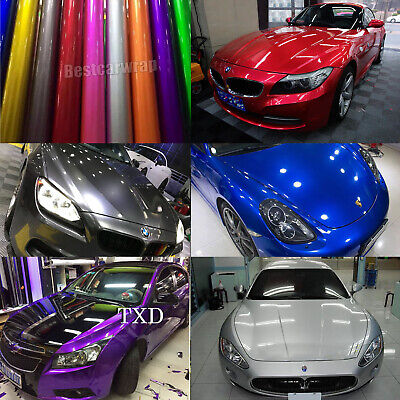 Auto Candy Metallic Gloss Vinyl Car Wrap Sticker Decal For Hood Roof Motorcycle Decal Stickers For Cars