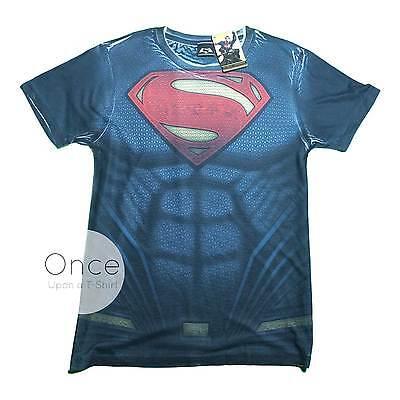 Offiziell Herren Batman Vs Superman Superanzug Superheld Kostüm T-Shirt ()