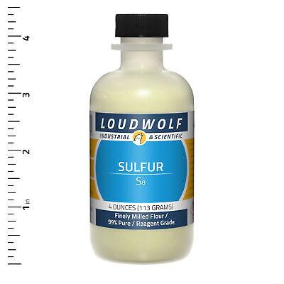 Sulfur 4 Oz Reagent Grade Finely Milled Flour Usa Seller