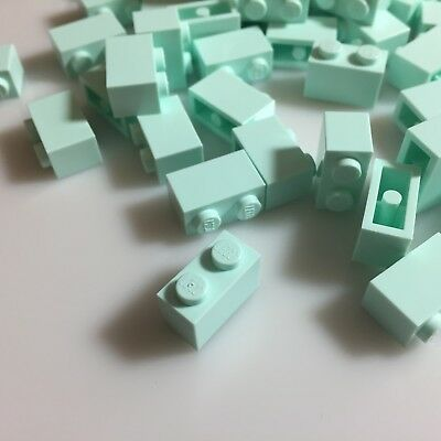 RARE COLOR 50 NEW LEGO 1x2 Aqua bricks (ID 3004/6022032) light bluish green mint