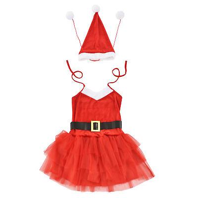 Weihnachtskostüm Weihnachten Party Nikolaus Outfit Kleid Xmas für Frauen Damen