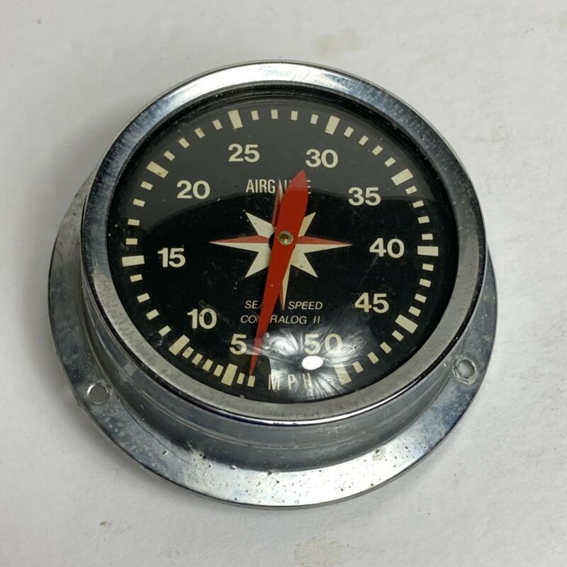 CONTRALOG II SPEEDOMETER MARINE NAUTICAL VINTAGE AIRGUIDE INSTRUMENT COMPANY USA
