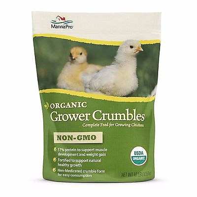 Manna Pro Organic Grower Feed Complete Feed For Growing Chickens 10lbs.