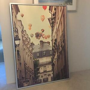 "Ikea Picture - ""Flying over Paris"" - half price Wembley Cambridge Area Preview"