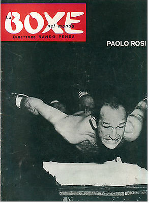 LA BOXE NEL MONDO N. 2 1958 PUGILATO PAOLO ROSI MARCONI WATERMAN