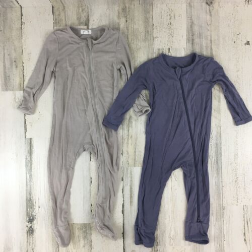 Kyte Baby and Angel Dear Lot of 2 Bamboo Baby Rompers Pajamas Sz 6-12 M 9-12 M