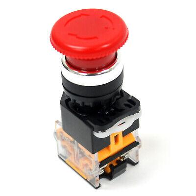 Emergency Stop Push Button Mushroom Latching Switch 1no1nc 440v 10a