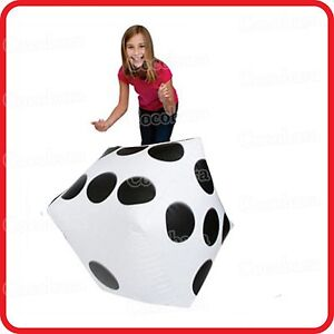 40CM DIAGONAL GIANT JUMBO LARGE INFLATABLE DOT DICE-BLOW-UP TOY-DECORATION PARTY