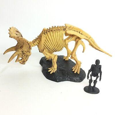Kaiyodo Capsule Q Museum Dinosaur Mini Figure Triceratops Skeleton import Japan