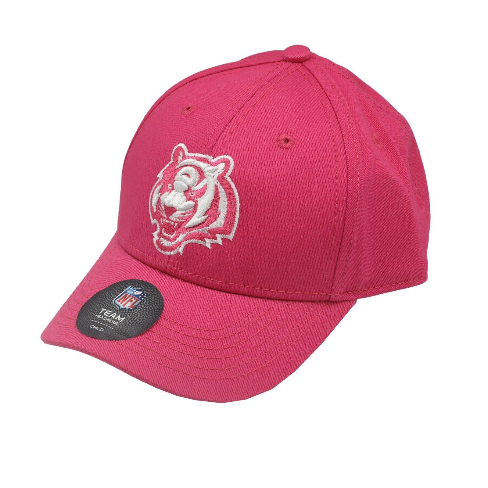 852a1f9b Details about Cincinnati Bengals NFL Apparel Toddler & Kids Girls OSFM  Adjustable Pink Hat Cap