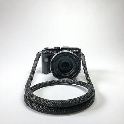 Kameragurt schwarz 120 cm Kameraseil Schultergurt Tragegurt Camera Strap black