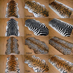 African Soft Faux Fur Bedroom Fake Animal Skin Print