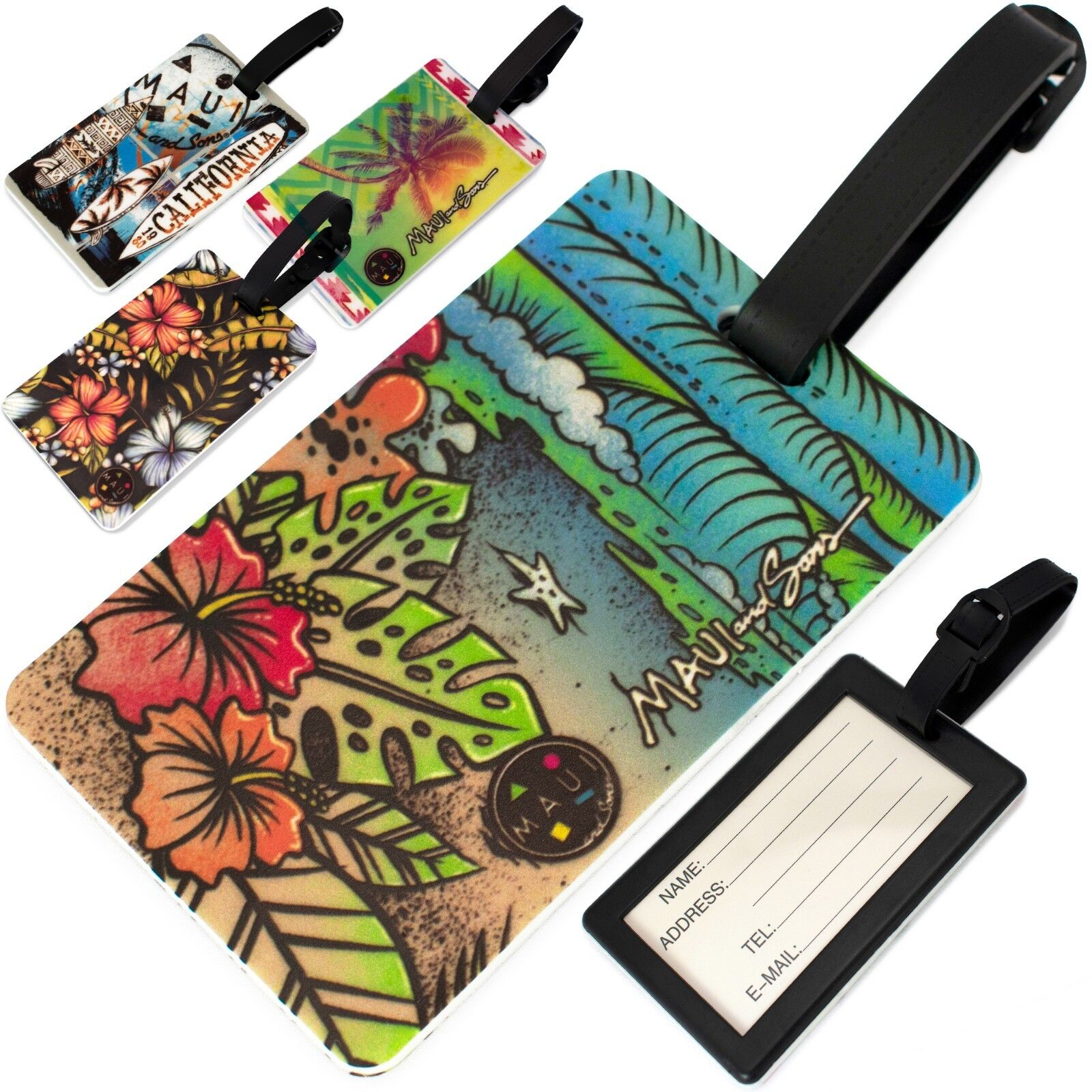 Maui and Sons Surfer Collection Luggage Tags - Pair