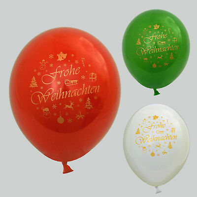 30 / 50 Luftballons Frohe Weihnachten für Feier Party Dekoration Frohes Fest