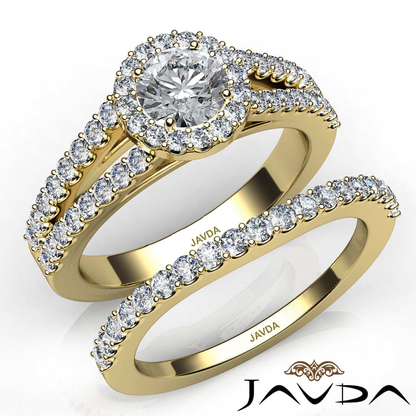 1.65ctw Luxurious Wedding Bridal Round Diamond Engagement Ring GIA E-VVS2 W Gold 8