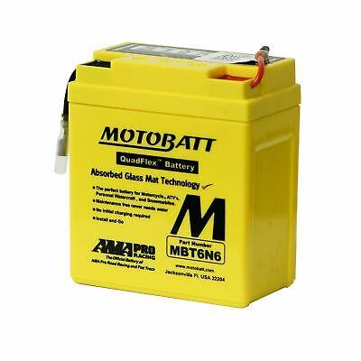 MOTOBATT MBT6N4 PERFORMANCE AGM GEL MOTORCYCLE BATTERY <em>YAMAHA</em> XT 500 7