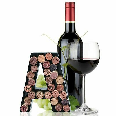 Wine Cork Holder Metal Monogram Letter - Easy Mount kit Included -