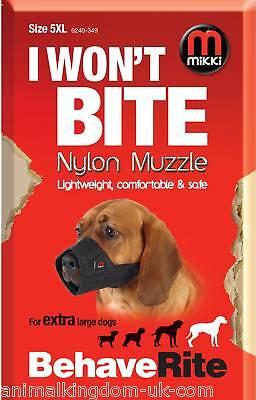 Mikki Nylon Fabric Muzzle For Dogs Size 5xl