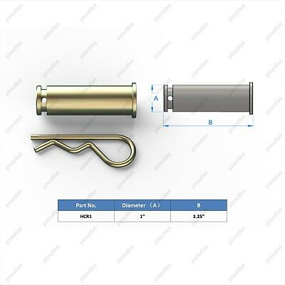 Hydraulic Cylinder Clevis 1 R Pin 3.25 Long With 1 Clip Brand New