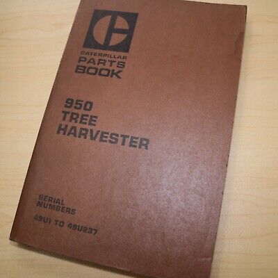Cat Caterpillar 950 Wheel Loader Tree Harvester Parts Manual Book 49u Series