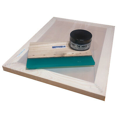 Value Screen Printing Kit A3 Frame 43t 55t 77t 90t 120t 12 Squeegee 100ml Ink