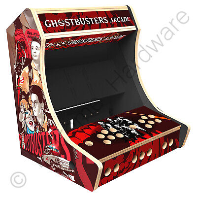 """BitCade 2 Player 19"""" Bartop Arcade Cabinet Machine with Ghost Busters Artwork"""