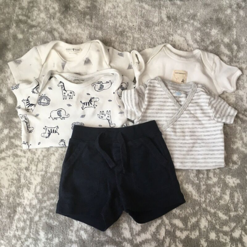 Blues Whites Grays 3-6 Month Baby Boy Clothes Lot Baby Gap Burts Bees