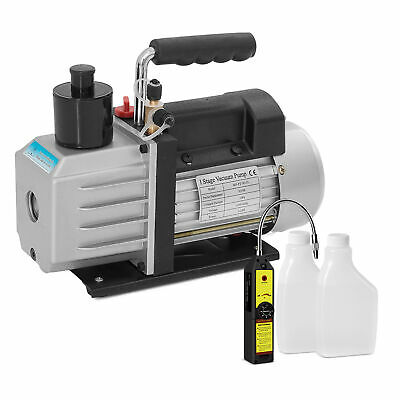 Single Stage 12hp Rotary Vane 5cfm Vacuum Pump Wportable Leak Detector Tester