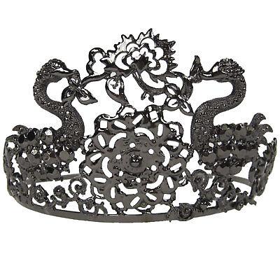 Black Swan Tiara (Black Swan Costume Ballerina Jeweled Tiara Crown Metal)