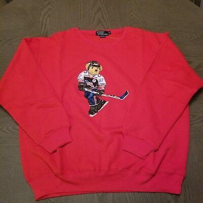 Authentic Vintage Polo Bear Sweater Sweatshirt Ralph Lauren Polo Sport  XL