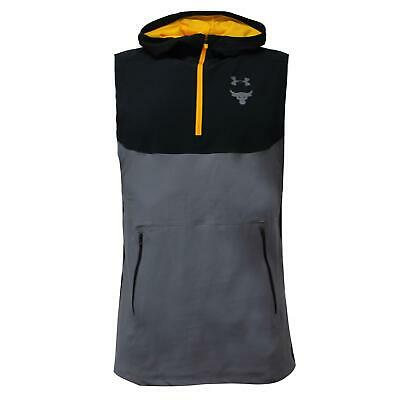 Under Armour Mens x Project Rock Sleeveless Hoodie Tank Grey 1321410 001