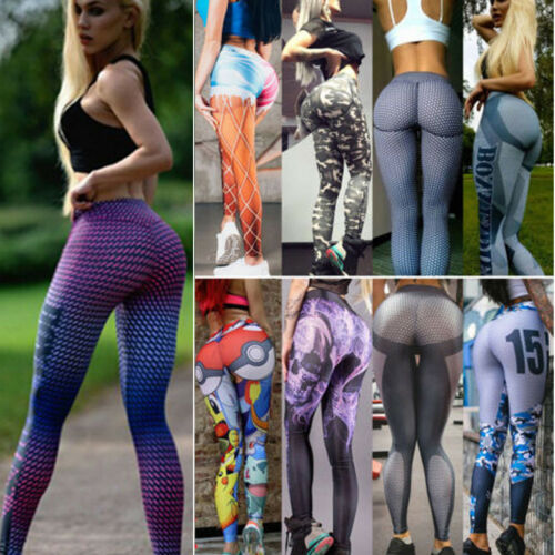Donna Yoga Workout Pantalone Vita Alta Sportpant Palestra Athleisure Fitness