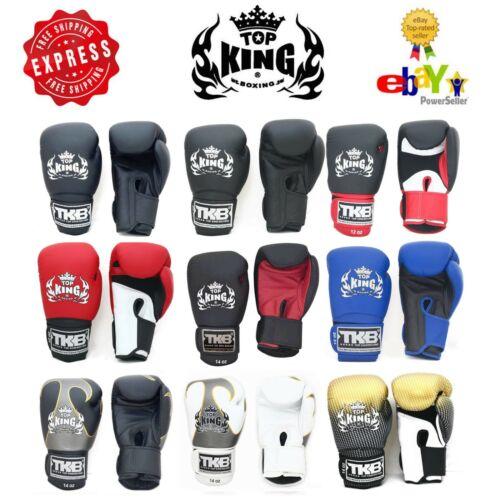 Top King Gloves Muay Thai Kick Boxing TKBGSA TKBGUV TKBGSV 8 10 12 14 16 18 oz