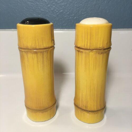 The Islanders Tiki Bamboo Salt and Pepper Shaker Set Designed by Hickok