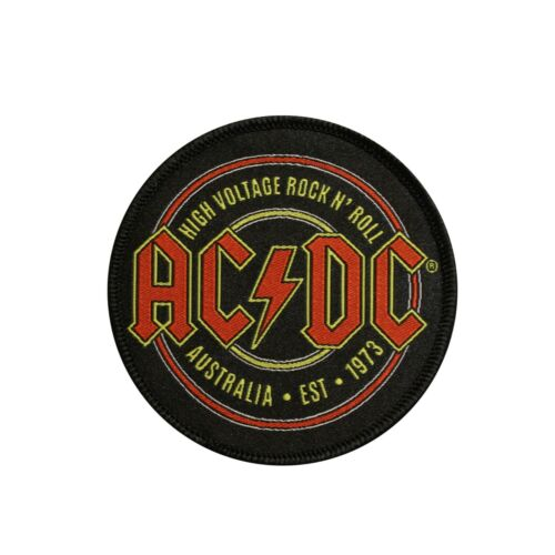 AC/DC  High Voltage Rock N Roll Embroidered Sew On Patch - Licensed 078-L