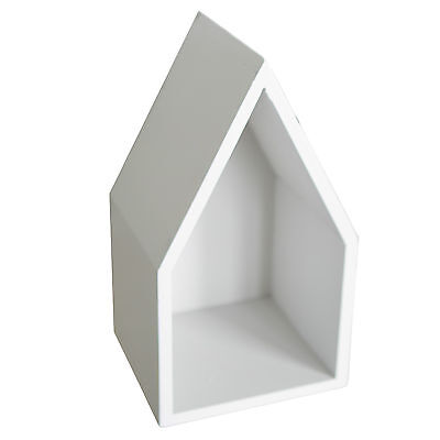 Wooden Display Box House B Shape for Home Decoration Scandinavian Style