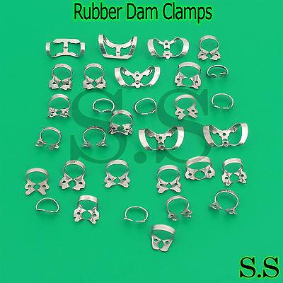 40 Pcs. Endodontic Rubber Dam Clamps Of Dentist Instrument