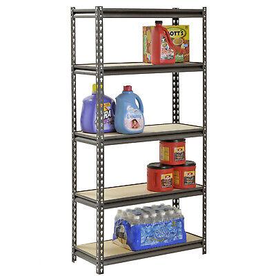 - 5 SHELF STORAGE RACK HEAVY DUTY Steel Metal Shelving Unit Garage Home Adjustable
