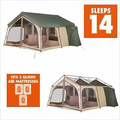 NEW Ozark Trail Camping Tent 14 Person 2 Room Cabin Outdoor Large Family Lodge for sale  Shipping to Canada