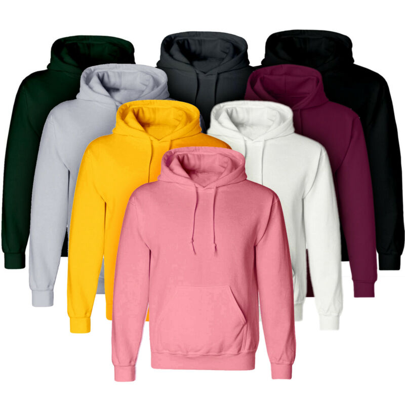 Vicabo Men Hooded Sweatshirt Coat Plain Design Hoodie Blank